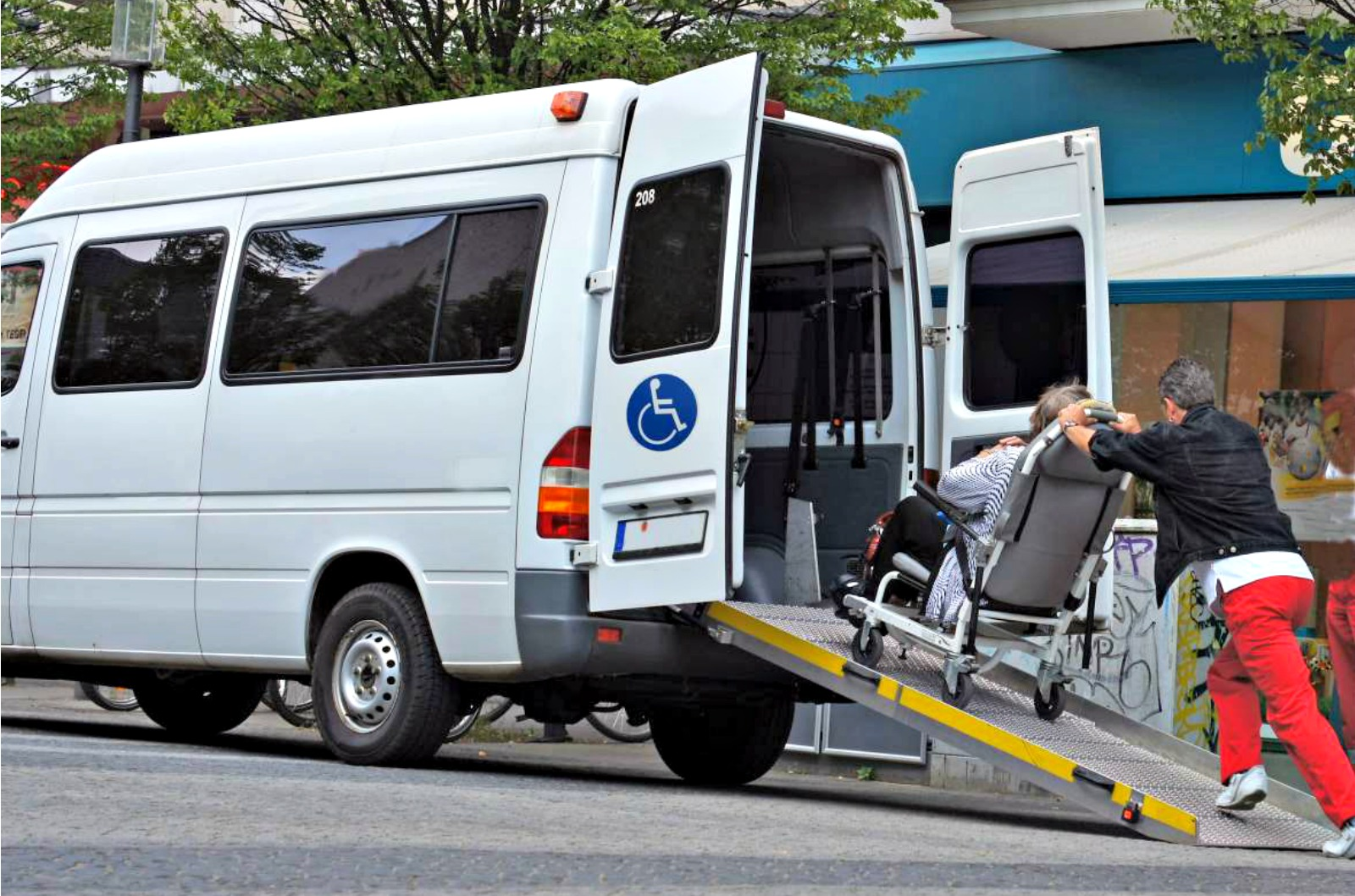 Unique Latching System Keeps Wheelchair Passengers Secure During Transit